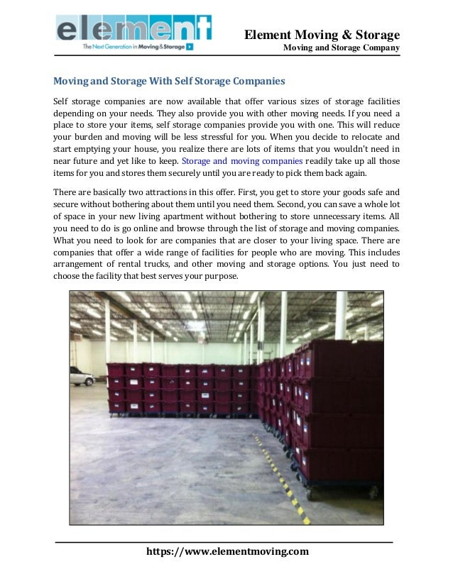 Moving And Storage Companies >> Moving And Storage With Self Storage Companies