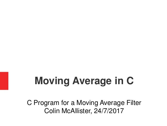 Moving Average Filter in C