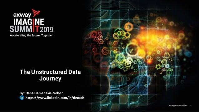 imaginesummits.com The Unstructured Data Journey By: Dena Damanakis-Nelson https://www.linkedin.com/in/denad/