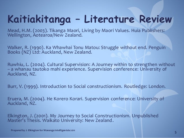 masters thesis literature