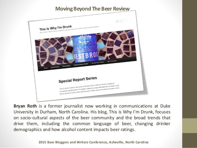 Moving beyond the beer review public copy Slide 3