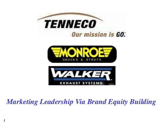 1 Marketing Leadership Via Brand Equity Building
