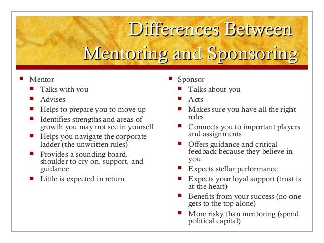 Moving From Mentorship To Sponsorship