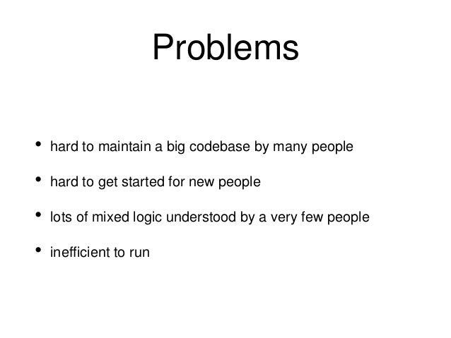 Problems 2 • distributed monolith • hard to debug • kubernetes packet loss