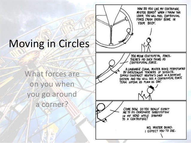 Moving in Circles What forces are on you when you go around a corner?