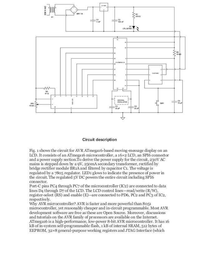 Moving message display circuit description fig ccuart Choice Image