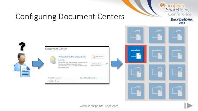 Configuring Document Centers www.sharepointeurope.com ?