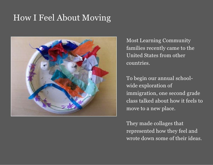 How I Feel About Moving                            Most Learning Community                           families recently cam...