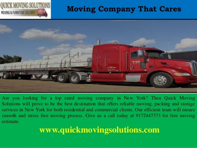 Moving Company That Cares Are you looking for a top rated moving company in New York? Then Quick Moving Solutions will pro...