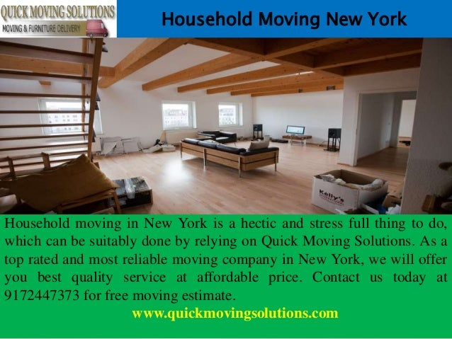 Household Moving New York Household moving in New York is a hectic and stress full thing to do, which can be suitably done...