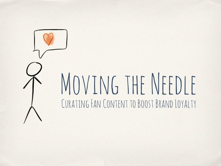 Moving the NeedleCurating Fan Content to Boost Brand Loyalty