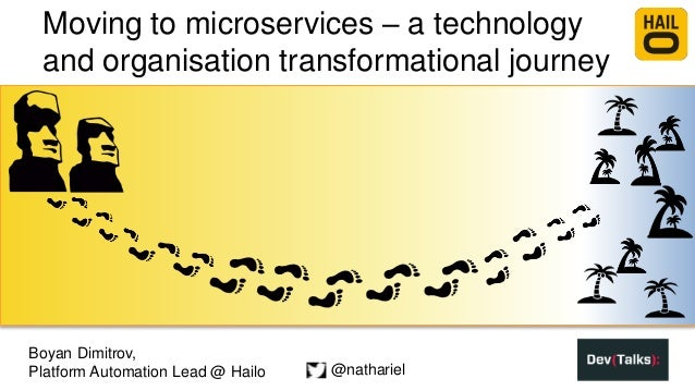 Moving to microservices – a technology and organisation transformational journey Boyan Dimitrov, Platform Automation Lead ...