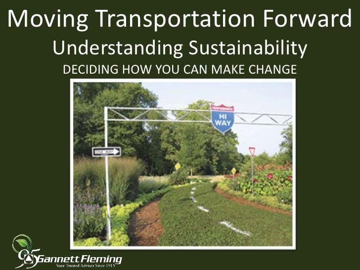 Moving transportation forward
