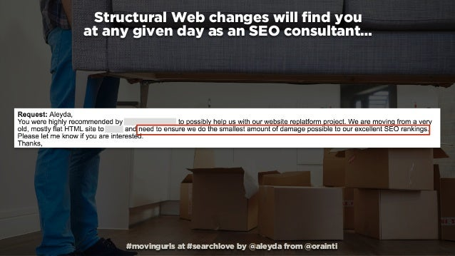 Moving URLs: Structural Web changes without losing rankings #SearchLove Slide 2