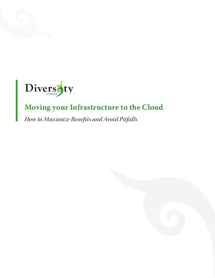 Moving your Infrastructure to the Cloud