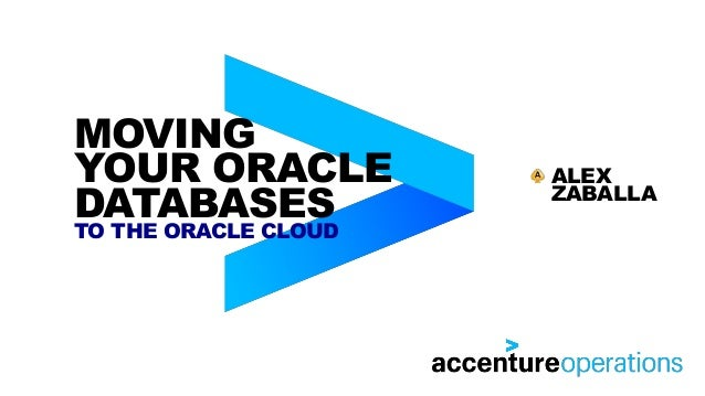 MOVING YOUR ORACLE DATABASES TO THE ORACLE CLOUD ALEX ZABALLA