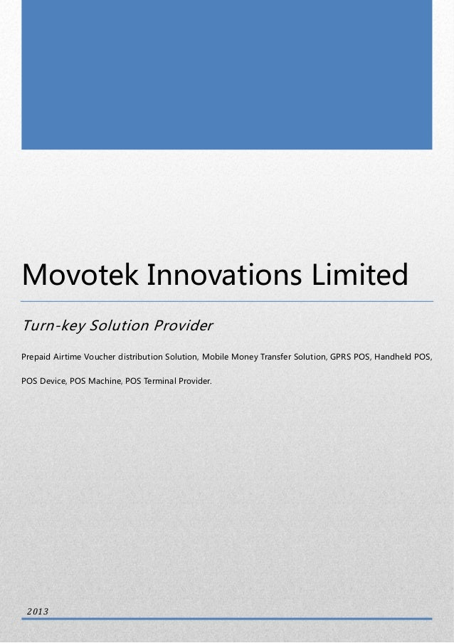 0 Movotek Innovations Limited Turn-key Solution Provider Prepaid Airtime Voucher distribution Solution, Mobile Money Trans...