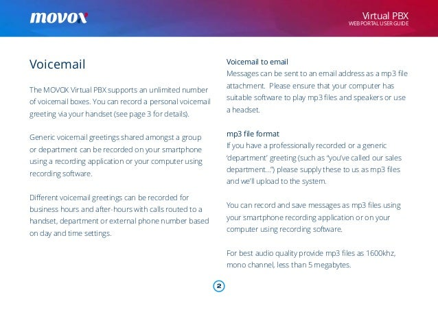 Movox web portal user guide voicemail m4hsunfo Gallery