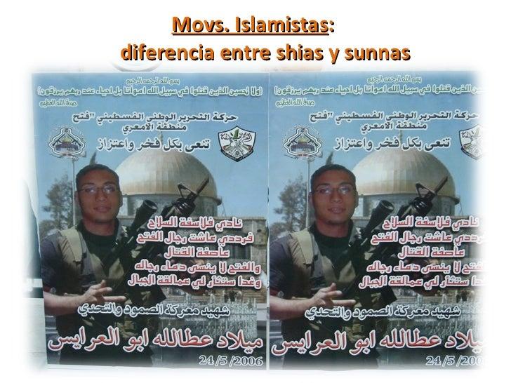 <ul><li>Movs. Islamistas :  diferencia entre shias y sunnas </li></ul>