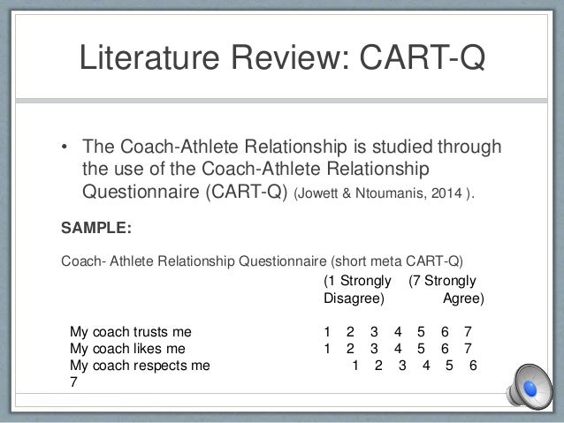 the coach athlete relationship questionnaire