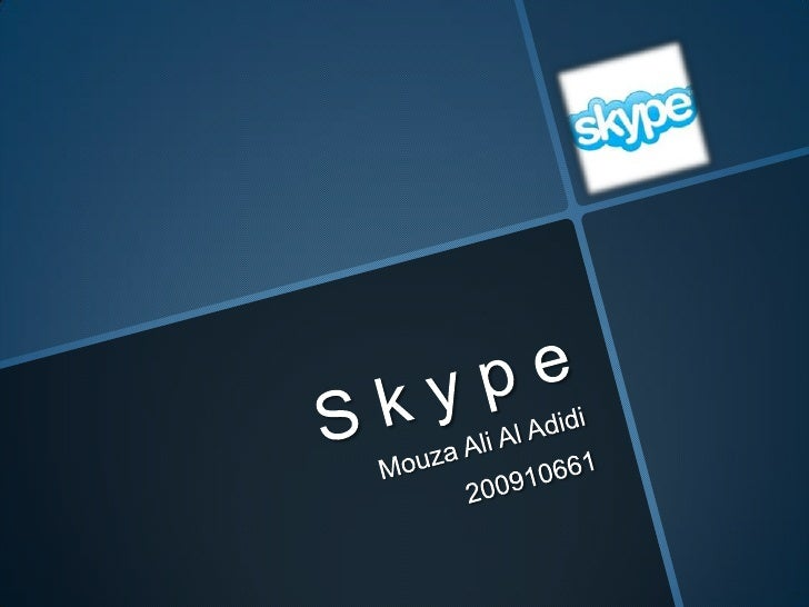 What is Skype?   Skype is a software that enables people   all over the world to text, voice call, and   video call for fr...