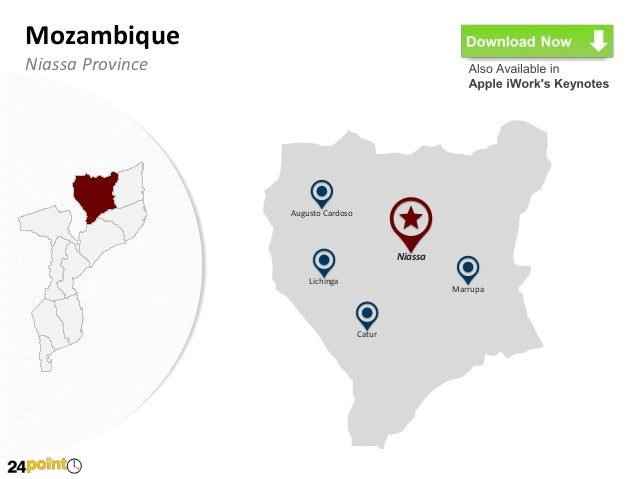 Editable PPT Mozambique Map