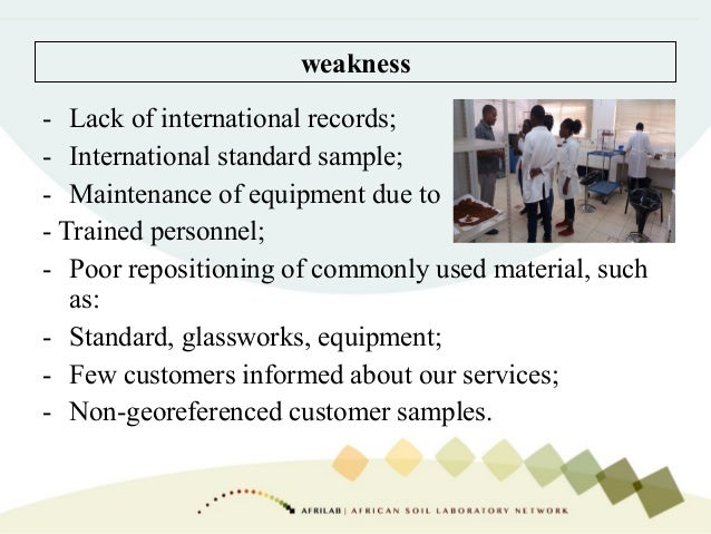 - Lack of international records; - International standard sample; - Maintenance of equipment due to - Trained personnel; -...
