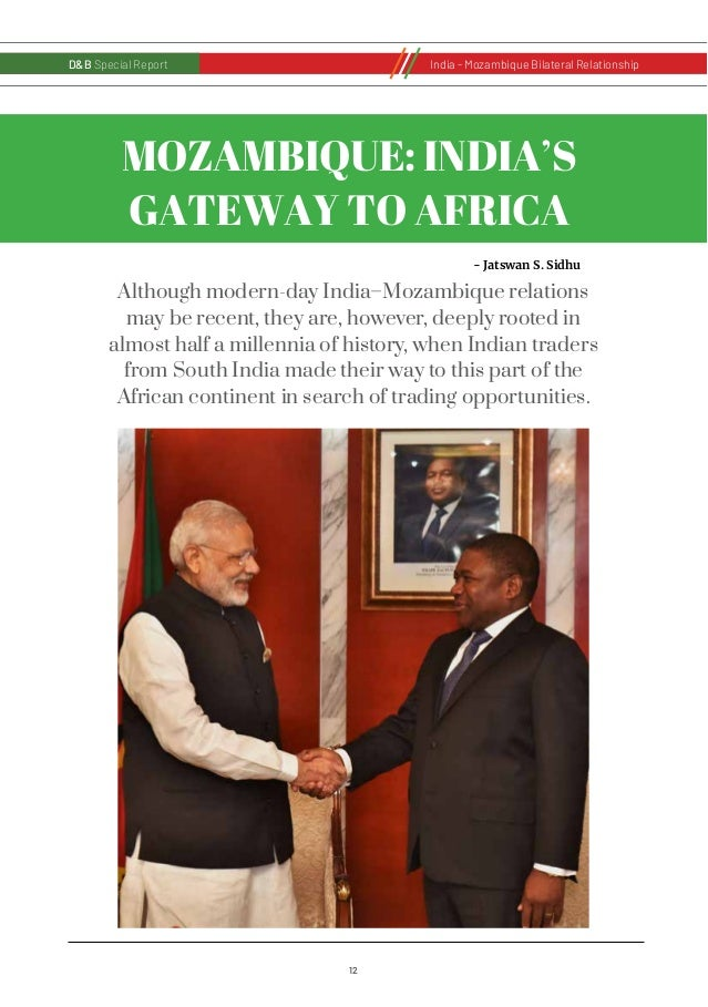 12 D&B Special Report India - Russia Bilateral RelationshipD&B Special Report India - Mozambique Bilateral Relationship MO...