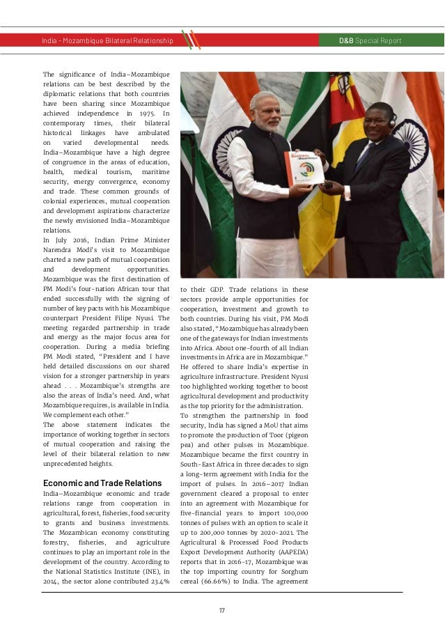 18 D&B Special Report India - Russia Bilateral RelationshipD&B Special Report India - Mozambique Bilateral Relationship wi...