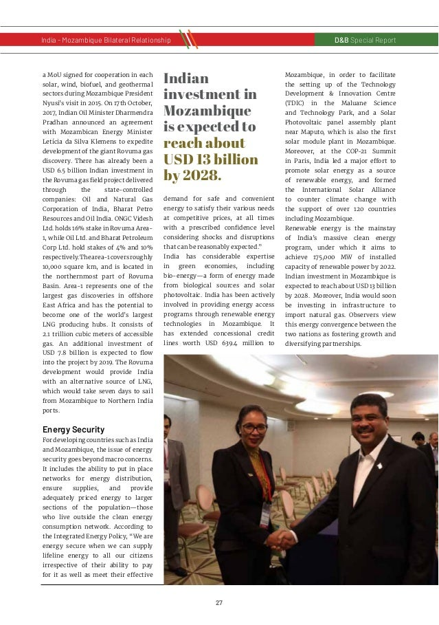 28 D&B Special Report India - Russia Bilateral RelationshipD&B Special Report India - Mozambique Bilateral Relationship Mo...