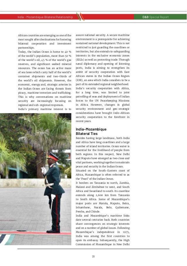 32 D&B Special Report India - Russia Bilateral RelationshipD&B Special Report India - Mozambique Bilateral Relationship wa...
