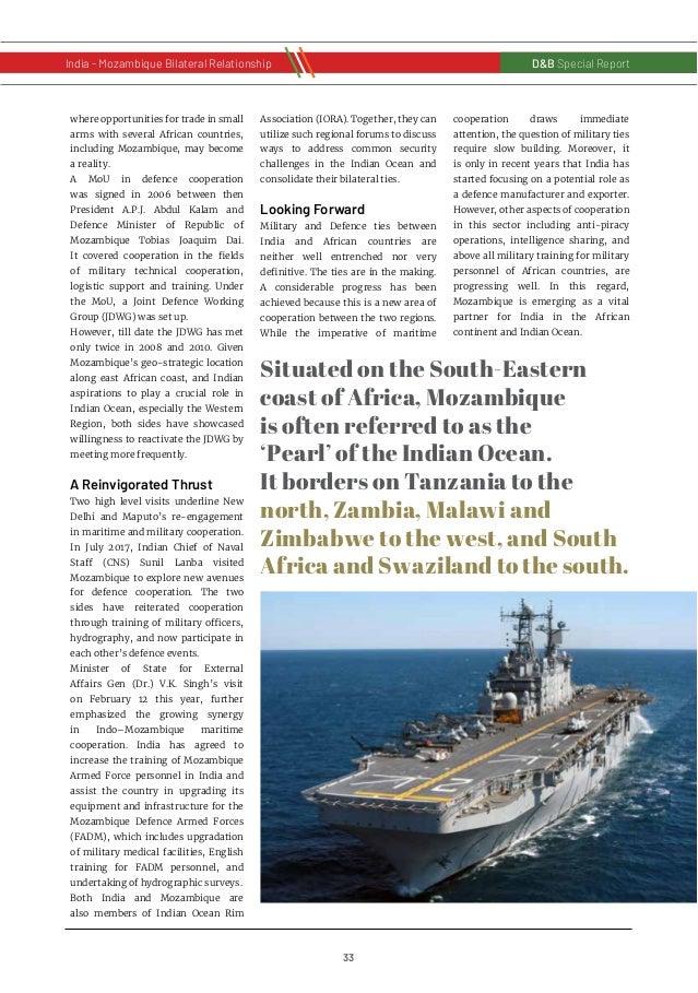 34 D&B Special Report India - Russia Bilateral RelationshipD&B Special Report India - Mozambique Bilateral Relationship A ...