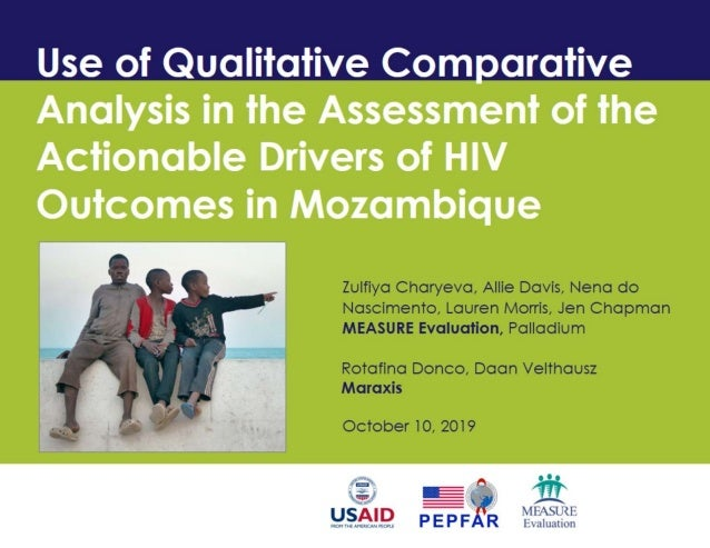 Use of Qualitative Comparative Analysis in the Assessment of the Actionable Drivers of HIV Outcomes in Mozambique