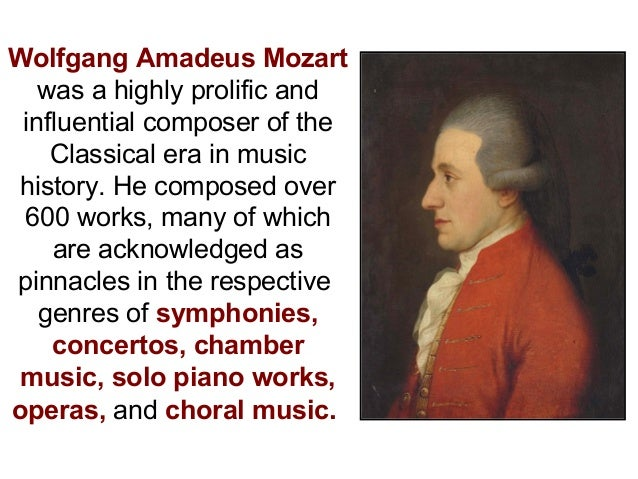 wolfgang amadeus mozart and music