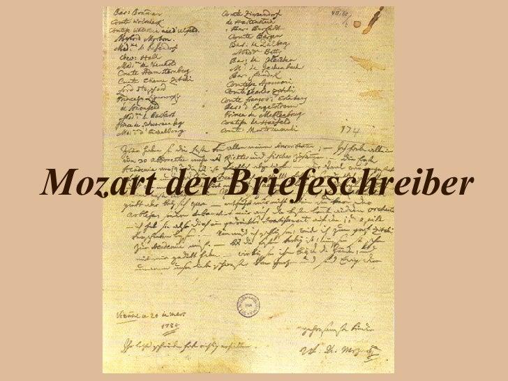 Mozart der Briefeschreiber