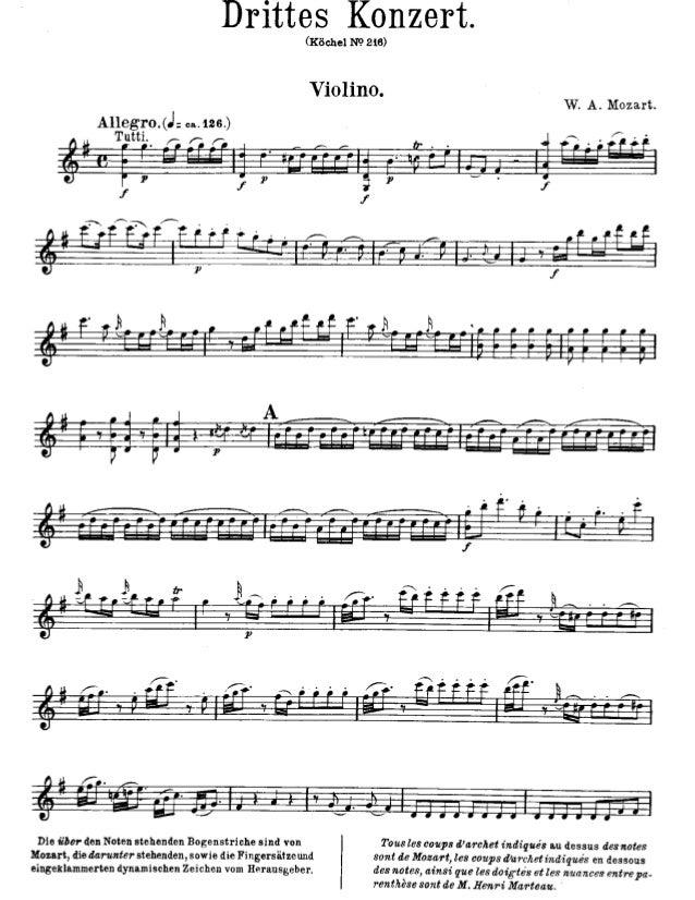 Mozart   violino concerto no. 3 em sol maior, k. 216
