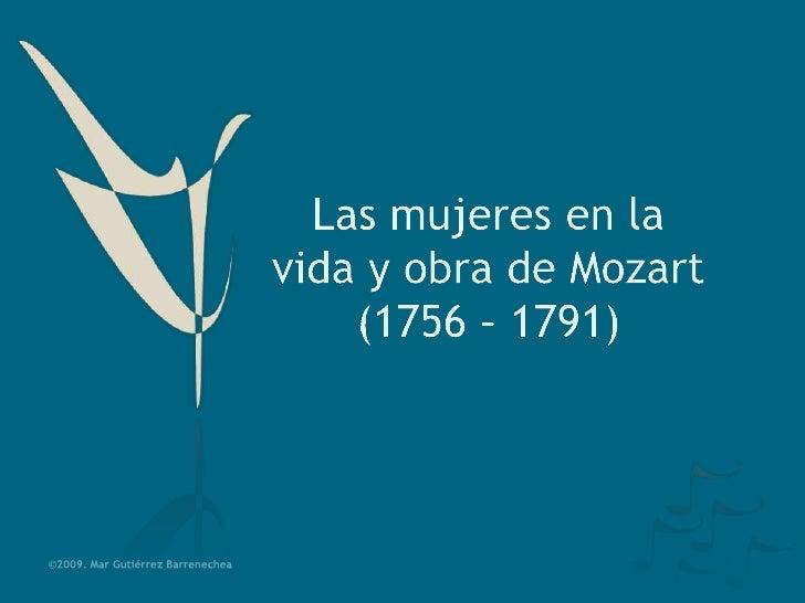 Las mujeres en la vida y obra de Mozart