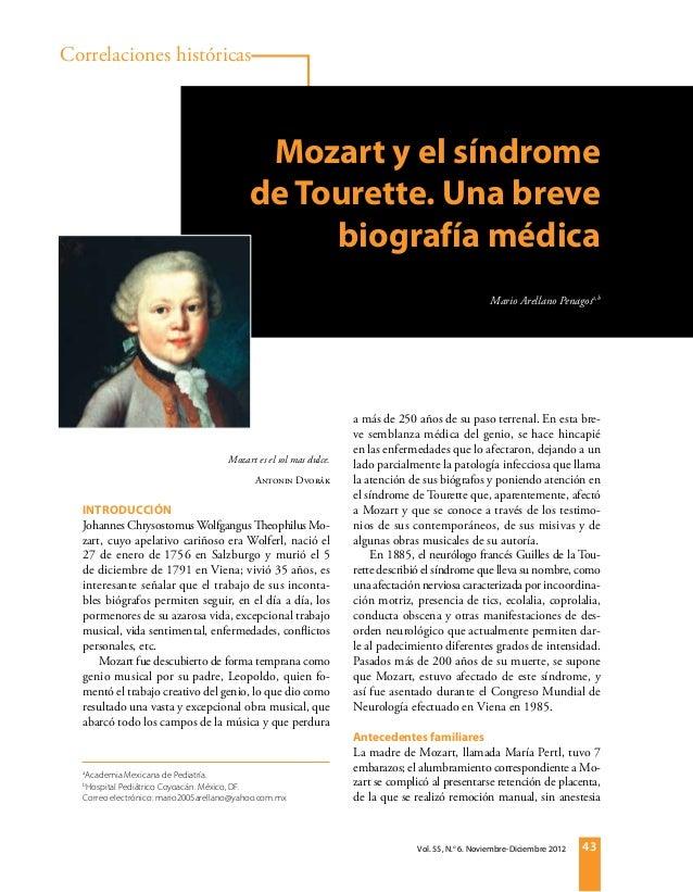 Correlaciones históricasEnfermedad vascular cerebral                                                Mozart y el síndrome  ...