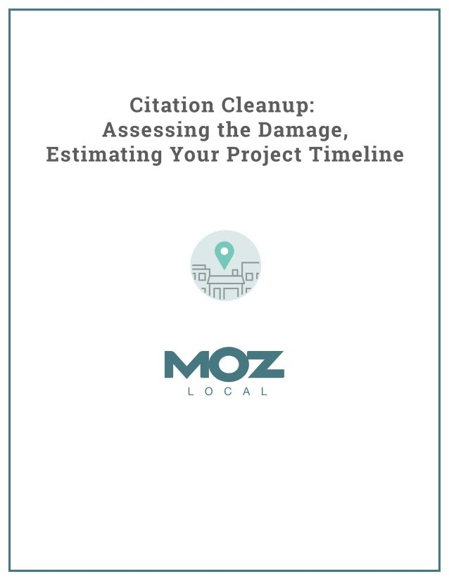 Moz Citation Cleanup