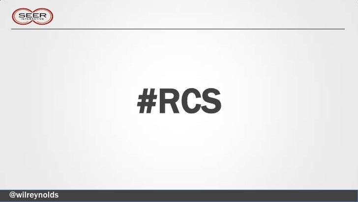 #RCS@wilreynolds