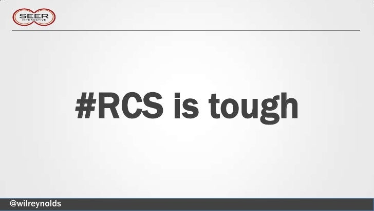 #RCS is tough@wilreynolds