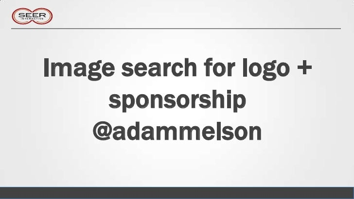 Image search for logo +     sponsorship   @adammelson