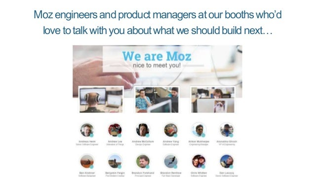 Severalnew Moz product launches…
