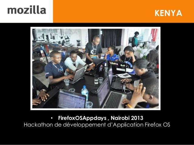 KENYA • FirefoxOSAppdays , Nairobi 2013 Hackathon de développement d'Application Firefox OS