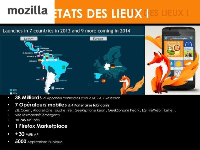 ETATS DES LIEUX I • 38 Milliards d'Appareils connectés d'ici 2020 - ABI Research • 7 Opérateurs mobiles & 4 Partenaires fa...