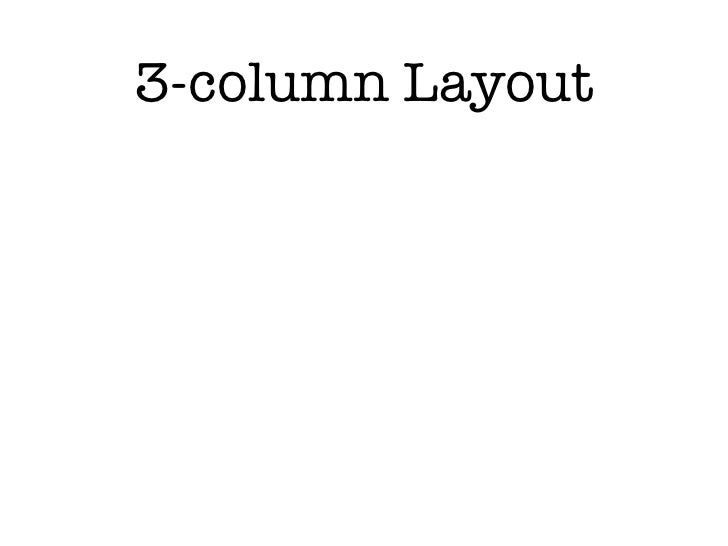 3-column Layout