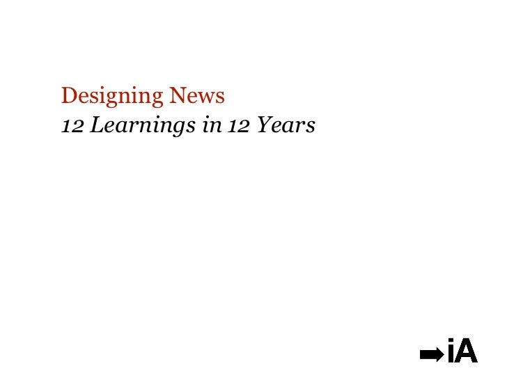Designing News12 Learnings in 12 Years