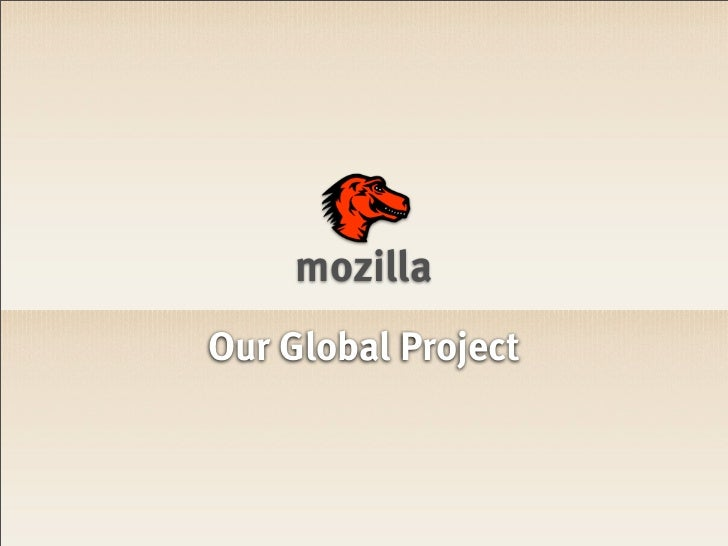 mozillaOur Global Project