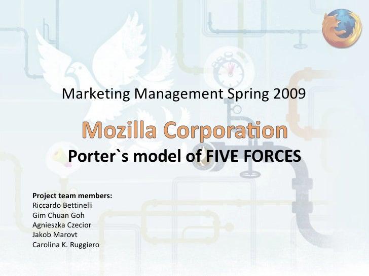 Marketing Management Spring 2009 Project team members: Riccardo Bettinelli Gim Chuan Goh Agnieszka Czecior Jakob Marovt Ca...