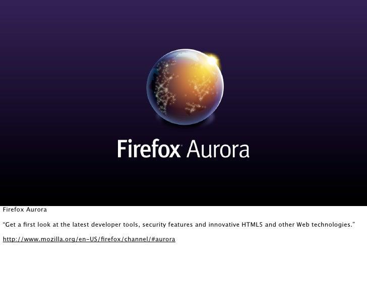 Mozilla Firefox: Present and Future - Fluent JS